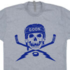 Hockey T SHIRT Skull Goon Goalie Mask Player Puck Helmet fan Sticks Jersey Tee