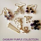 CHOOSE COLOUR EARRING JEWELLERY KIT CRYSTAL BEADS EARWIRES HEADPINS FLOWERS
