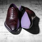 Eves & Gray Mens Shoes MUST Mustang Brogue  -Oxblood