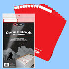 BCW: Fold-Tab Box Dividers: COMIC Size RED 300ct *CASE-LOT (12pks/25ea)