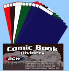 BCW: Fold-Tab Box Dividers: COMIC Size 5-Color Assort 300ct *CASE-LOT 12pks/25ea