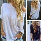 Women Fashion Off Shoulder T-shirt Casual Short Sleeves Blouse Loose Tee TopsLAU