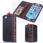 Vintage Bifold Leather Card Book Flip Wallet Case Cover For iPhone 6/ 6 Plus