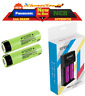 2x Panasonic NCR & Efest Pro C2 Charger 18650 3400Mah 3.7 Rechargeable Battery