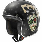 LS2 OF583 TATTOO Open Face Motorbike Motorcycle Helmet Graphic Legal Use