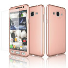 Samsung Galaxy J3 Sky 360°Protective Case Cover +Tempered Glass Screen Protector