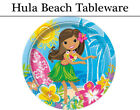 Hula Beach Party Tableware - Plates, Napkins, Cups & Tablecover