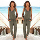 Rompers womens long jumpsuit 2017 lady summer trousers beach jumpsuit bodysuit
