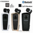 F910 FineBlue Wireless Bluetooth Headset Retractable Earphone For iPhone Huawei