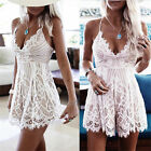 Womens Lace Holiday Mini Playsuit Off Shoulder Jumpsuit Summer Beach Dress Lot