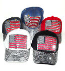 BN fashion USA American Flag Studs Denim cotton Adjustable SEXY Hip-Hop Baseball