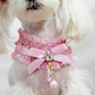 New Pet Cat Dog Collar Bling Crystal Adjustable Puppy Rhinestone Buckle Necklace