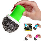 Yoocart Pot Brush Cleaning Round Handle Stainless Steel Scrubbers Tool Utensil