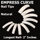 EMPRESS CURVE *NATURAL* Very Long Half Cover Nail Tips **YOU CHOOSE QTY!**