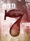 Retro 'Lucky Number 7' by Brandi Fitzgerald Graphic Art Print on Wrapped Canvas