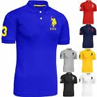 Mens US Polo Assn Pique T-shirt Original Shirt Branded Top Short Sleeve Cotton