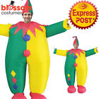 K354 Clown Circus Adult Fan Inflatable Fancy Costume Suit Funny Jester Joker Hat