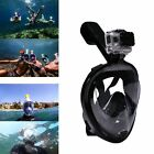 180° Full Face Swimming Snorkel Mask Surface Diving Snorkel Scuba for GoPro S/L