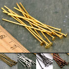 Plated Flat Head Pin T Pins Nail Findings 22gauge 20-50mm PICK
