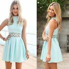 Women Fashion Sleeveless Short Sundress Casual Party Prom Evening Cocktail Dress