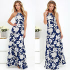 Women Maxi Boho Summer Long Dress Sleeveless Floral Evening Cocktail Party Dress