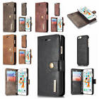 "Fr iPhone 6/6S 4.7"" Detachable Back Genuine Leather Classic Card Slot Case Cover"