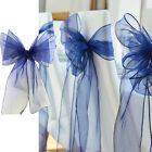 50Pcs 18x275CM Organza Chair Sashes Bow Cover Wedding Party Banquet Decorations