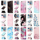 "For iPhone 6/6S 4.7"" Colorful Patterns Leather Card Wallet Stand Flip Case Cover"
