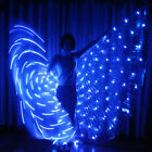 rechargeable LED isis wings 182 lights light up glow belly dance sticks bag