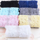 1 yd Vintage Embroidered Lace Edge Trim Ribbon Wedding Applique Sewing Craft DIY