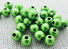4mm 500/1000/2000pcs OPAQUE COATED GREEN ACRYLIC ROUND BEADS AB3093
