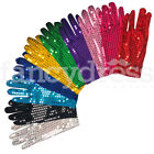 Pair Sequin Gloves Fancy Dress Accessory Stage Jazz Dance Clown Showgirl NEW