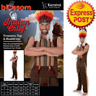 CA237 Indian Chief American Mens Village People Fancy Party Costume Headdress