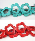 17mm/32mm Turquoise Gemstone Flower Loose Beads For Womens DIY Jewelry Makings