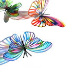B182- Butterflies Weddings Crafts, Cake Topper Decorations Cards