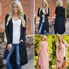 Women Ladies Long Sleeve Knitted Cardigan Loose Sweater Outwear Jacket Coat N4U8