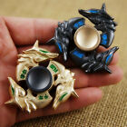 Tri Fidget Alloy Metal Hand Spinner Focus Toy EDC Finger Spin Gyro ADHD Autism