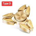 Tri Fidget Hand Spinner Triangle Brass Metal Rainbow Finger Toy EDC Focus ADHD фото