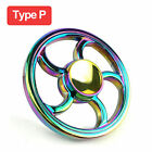 Tri Fidget Hand Spinner Triangle Brass Metal Rainbow Finger Toy EDC Focus ADHD <br/> Wholesale✔ 32 Species✔ US Fast Shipping✔Retail Packing