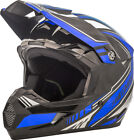 Gmax MX46 Uncle Off Road Motorcycle Helmet Black/Blue Adult All Sizes