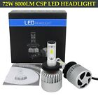 8000LM CSP Chips LED Headlight H4/H7/9007/H11/H1 Bulbs 6000K Beam Fog light Kit