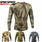 Tactical Camo Quick Dry Breathable Tights Military Long-sleeve T-shirt Top 4Size