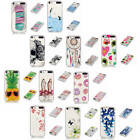 For Apple iPod Touch 5/6 Bumper Top Patterned Transparent Soft TPU Silicone Case