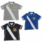 Boys Polo T-shirt Short Sleeved Top 3-6M to 5-6Y Three Colours To Choose From