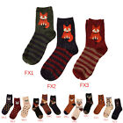 retro animals patterns rabbit socks autumn winter cute fox wolf cotton socksLAUS