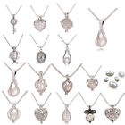 Varied Locket Pearl Necklace Freshwater Cultured Pearl Cage Hollow Pendant Women