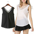 CH New Women Summer Chiffon Vest Top Sleeveless Casual Tank Blouse Tops T-Shirt
