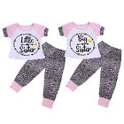 Toddler Kids Baby Girl Sister Matching T-shirt Tops Long Pants Outfits Clothes i