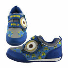 Boys Size 7 - 1 DESPICABLE ME MINIONS Touch Fastning Trainers NEW Blue Yellow
