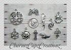 10pc Silver Weather Charm Set Lot Collection / Jewelry /Snowflake,Sun,Lightning+